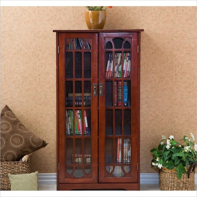 Window Pane Media Cabinet, Cherry - Craftsman - Media Cabinets - by ...