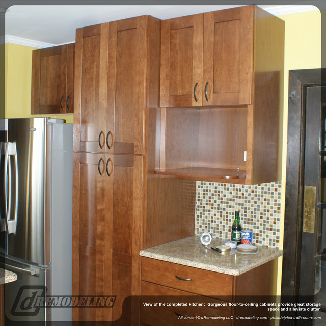 Floor To Ceiling Wood Kitchen Cabinets