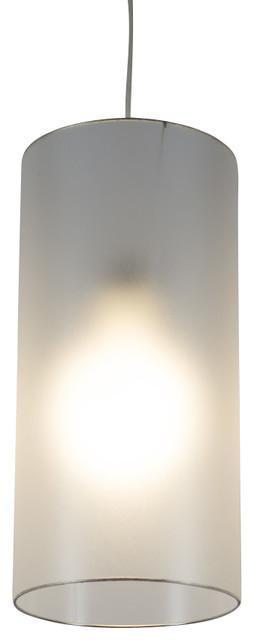 meridian long pendant light in anna green shade