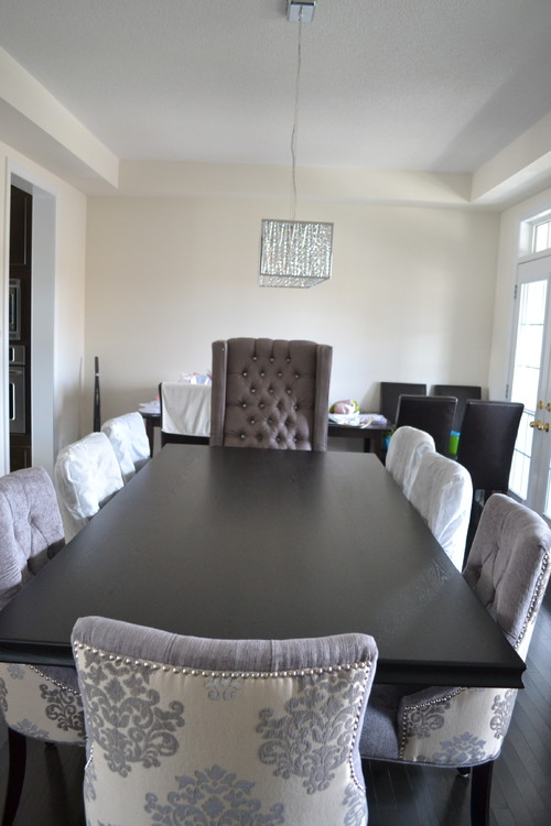 Fabulous Table Is Black And Chairs Are Greyish Blue With The Head Chair  Greyish Purple How To Tie Both Blue U Purple Into A Wallpaper With Cynthia  Rowley ...