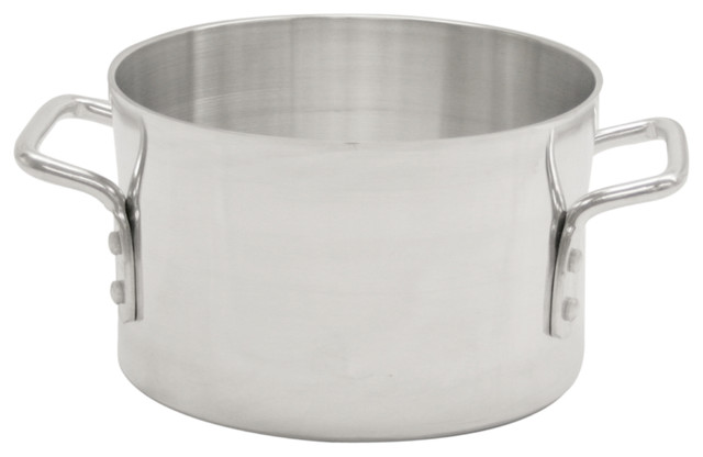 20 Qt. Aluminum Sauce Pot, Mirror Finish.
