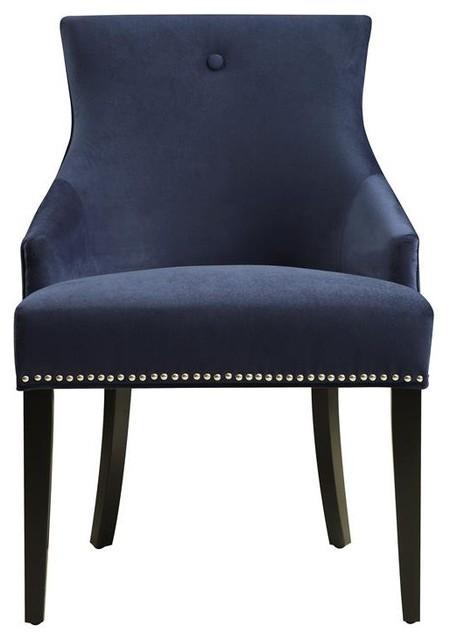 Pulaski Button Back Dining Chair, Bella Navy