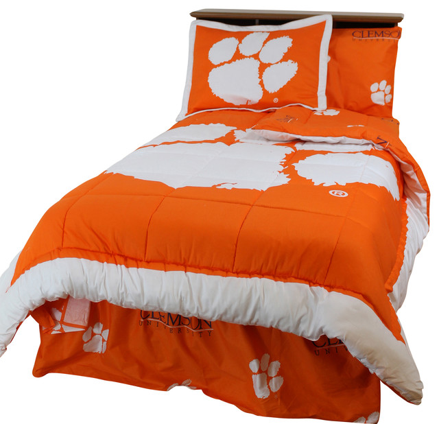 Clemson Tigers Bed in a Bag Twin, With Team Colored Sheets ...