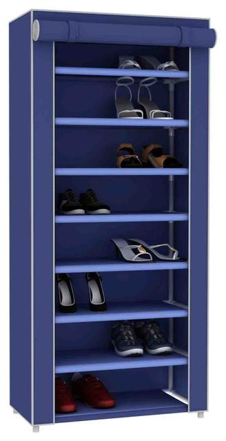 Sunbeam Navy Blue 8-Tier Non-Woven Shoes Closet.