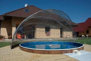 Arcpool l 39 abri pour piscine ronde for Abri piscine meilleur prix