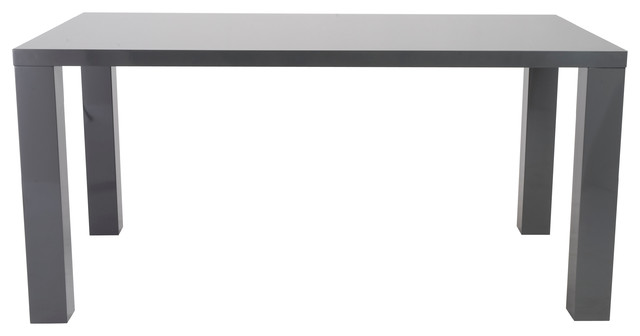 Abby 63 Dining Table Gray Lacquer