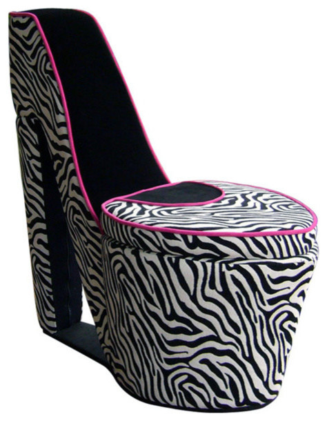 Terrific Chair With Storage High Heel Design Red And Black Zebra Cjindustries Chair Design For Home Cjindustriesco