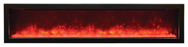 "Built-In Electric Fireplace, 72""."
