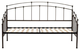 Fenton Complete Metal Daybed With Spindle Panels and Euro Top Deck, Twin