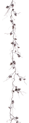Silk Plants Direct Pine Cone Garland, Pack Of 12.