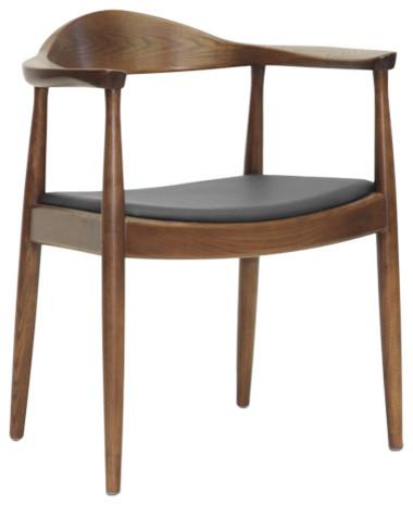 Embick Mid-Century Modern Dining Chair, Dark Brown
