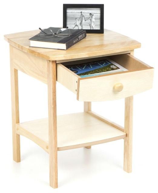 natural wood finish 1 drawer bedroom
