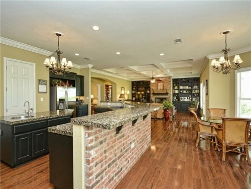Lovely ... On Each Side Of Used Brick Fireplace With Raised Hearth. Can You  Suggest What Type And Color Of Countertop And Backsplash Would Work Well In  My Kitchen?