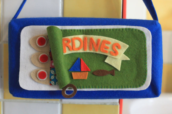 Felt Tissue Box Cover, Sardines by Oyatsu