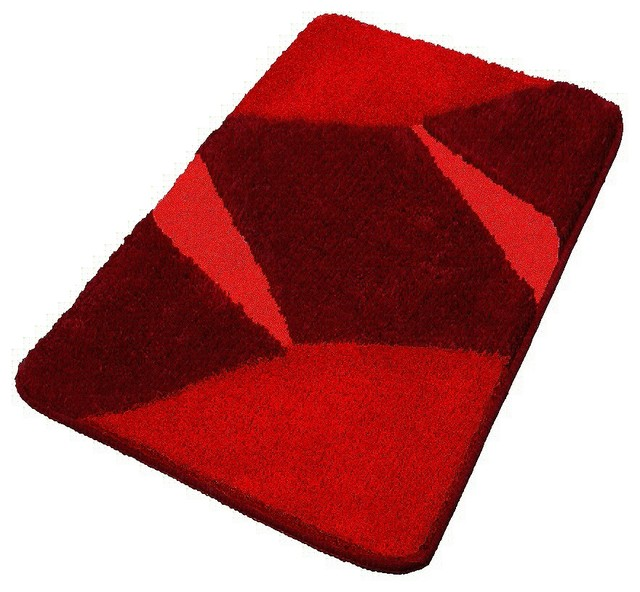 Red Luxury Non Slip Washable Bathroom Rugs, Extra Large contemporary-bath-mats - Vita Futura Red Luxury Non Slip Washable Bathroom Rugs - Bath Mats