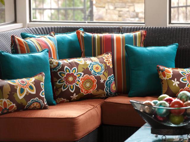 """Outdoor/indoor Annie/westport Chocolate 25"""" Floor Pillow."""