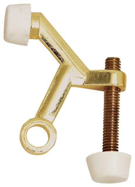 Standard door stop hinge pin polished brass for Stanley home designs bb8024 hinge pin door stop satin nickel