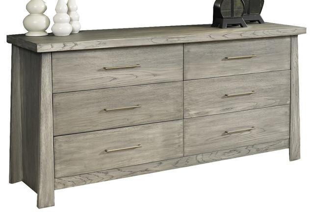 Ligna Zen 6 Drawer Dresser, Driftwood.