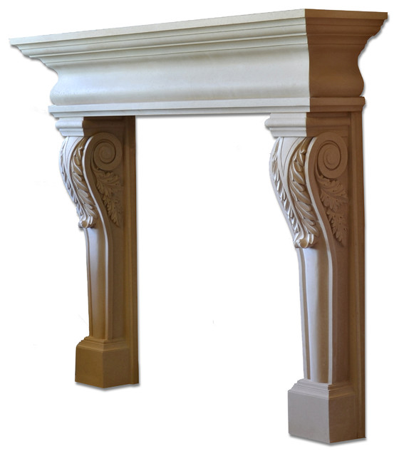 Acanthus Mantel - Traditional - Fireplace Mantels - by Distinctive ...