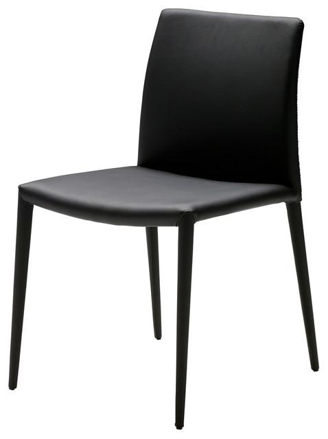 Zeno dining chairs black set of 2 modern dining for Zeno kitchen set