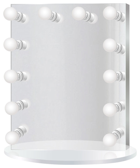 Vanity Mirror.Led Lighted Hollywood Makeup Vanity Mirror Table Top Or Wall Mount