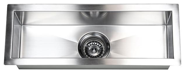 "23"" Stainless Steel Undermount Single Narrow Bowl Kitchen/bar/prep Sink."