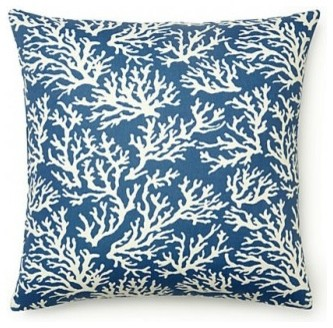 Blue Coral Faylinn Indoor Outdoor Pillow - Contemporary - Outdoor Cushions And Pillows - by 5 ...