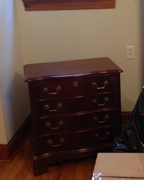 ... Bedroom Set With King Sized Bed, 2 Nightstands, Triple Dresser And  Mirror And Highboy. Approx 25 Years Old But In Near Perfect Condition. How  Much ...