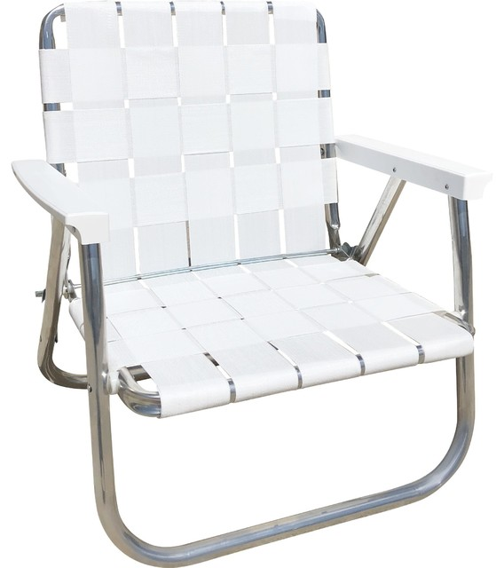 Bright White Low Back Beach Chair Contemporary Outdoor Folding Chairs By Lawn Usa