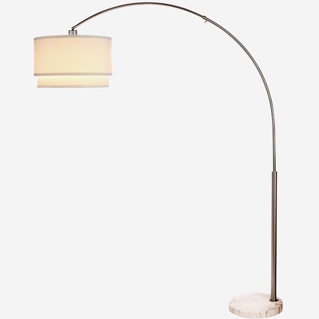Brightech Mason LED Arc Floor Lamp with Marble Base
