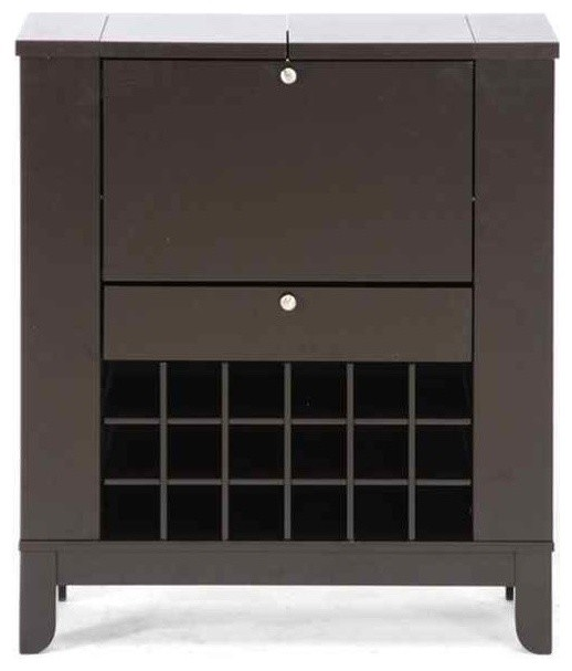 Modesto Modern Dry Bar and Wine Cabinet - Wine And Bar Cabinets - by ShopLadder