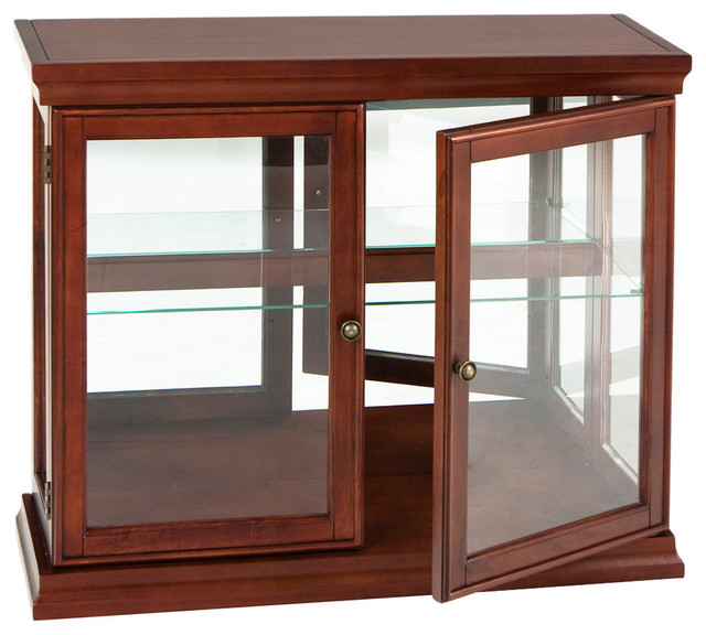 Southern Enterprises Bermuda Double Door Curio - Accent Chests And Cabinets | Houzz