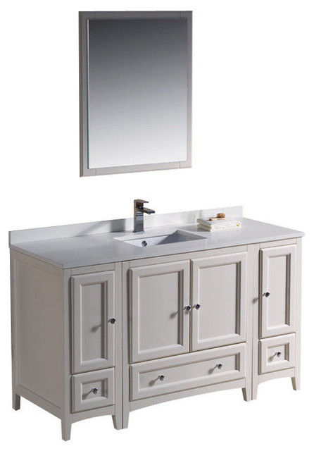"54"" single sink bathroom vanity - bathroom vanities and sink"