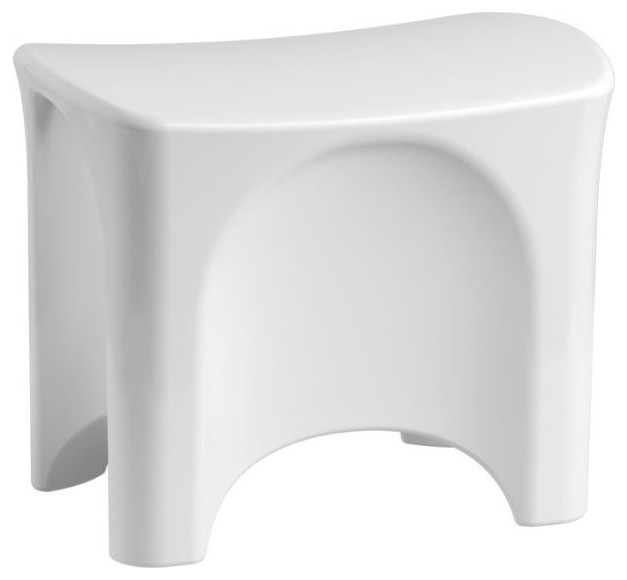 Captivating Composite Freestanding Shower Seat, White Traditional Shower Benches And  Seats