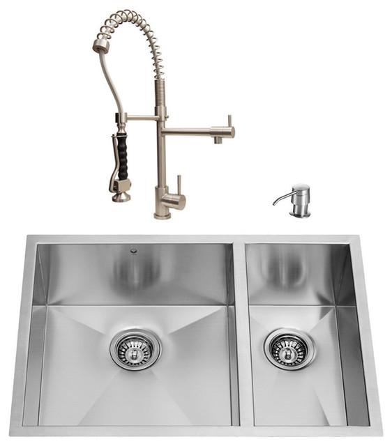 VIGO Undermount Stainless Steel Kitchen Sink Faucet 2