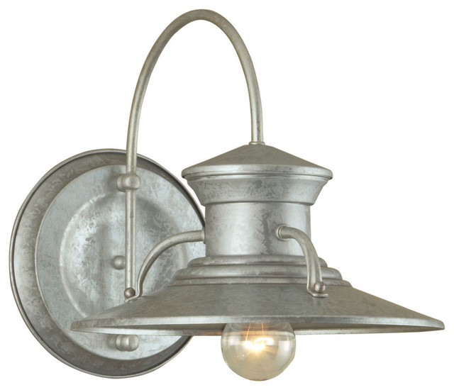 Norwell Lighting Budapest Galvanized Large Outdoor Wall Sconce