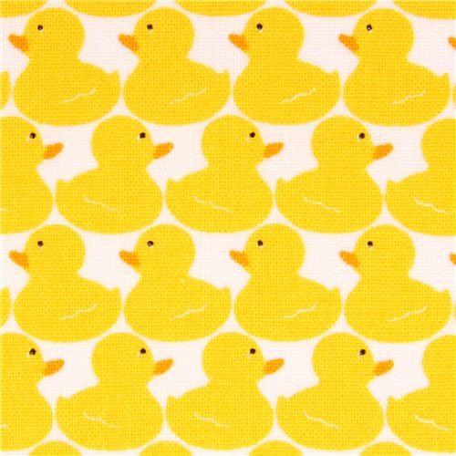 white mini duck animal fabric Timeless Treasures Splash