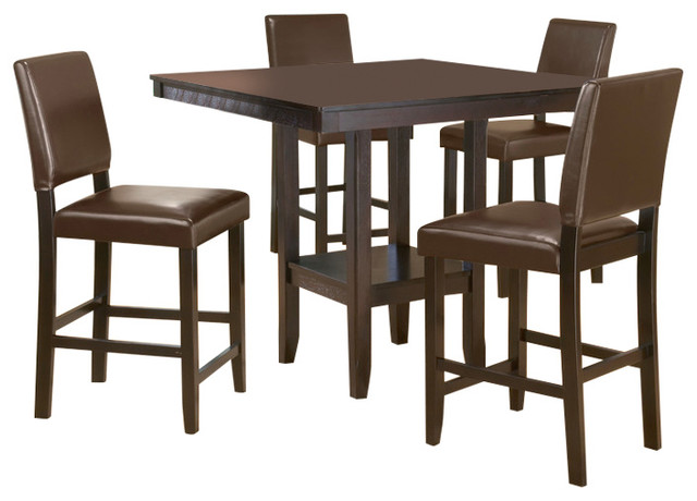 a33b9e04658 Arcadia 5-Piece Counter Height Dining Set w Parson Stool - Transitional - Dining  Sets - by Furniture East Inc.