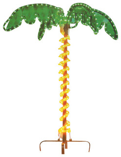 Tropical Lighted Holographic Rope Light Outdoor Palm Tree Yard Decoration - Contemporary ...
