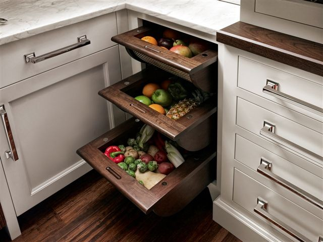Kitchen Drawer Design Ideas Part - 42: Fruit And Vegetable Drawers Traditional New York By Trish
