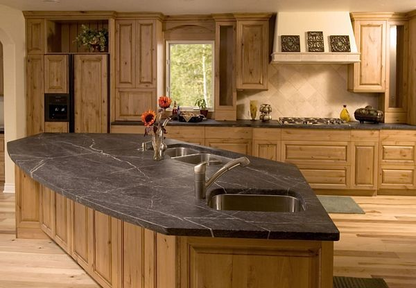 Rustic Stone Countertops : Soapstone countertop rustic kitchen atlanta by