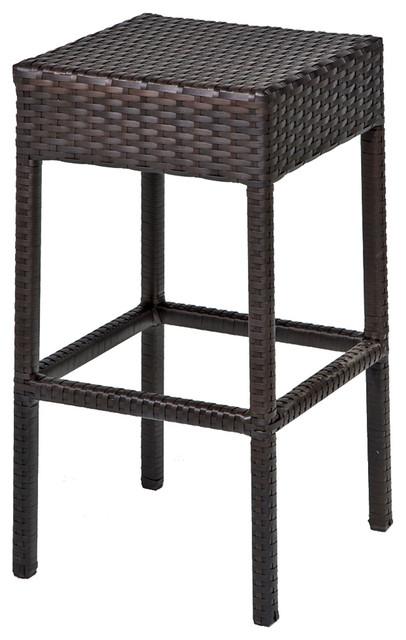 Napa Backless Barstools, Set Of 2 Tropical Outdoor Bar Stools And