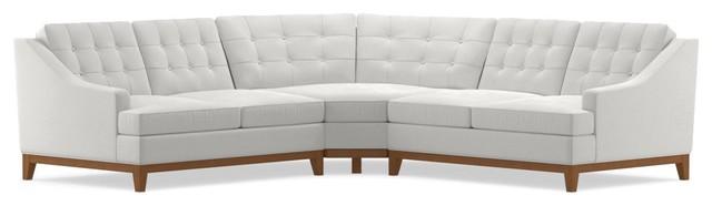 Bannister 3-Piece Sectional Sofa, Snowfall