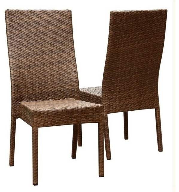 Abbyson Living Palermo Outdoor Wicker Dining Chairs Brown  : outdoor dining chairs from www.houzz.com size 598 x 640 jpeg 85kB
