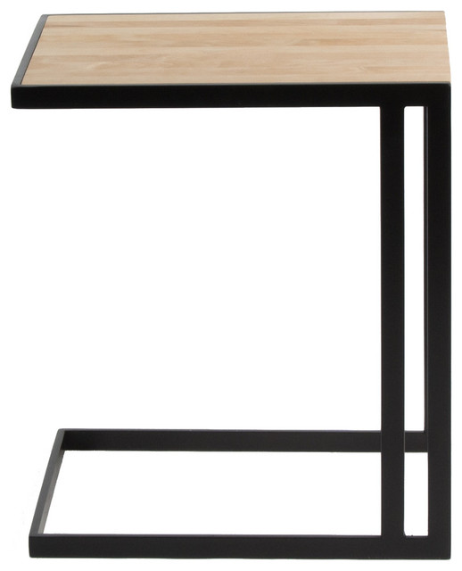Ansted C Table, Oil Rubbed Bronze, Maple