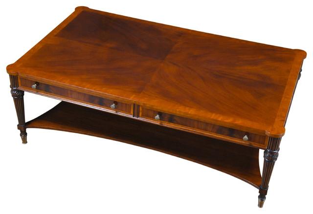 Niagara Furniture, Large Mahogany Coffee Table Traditional Coffee Tables