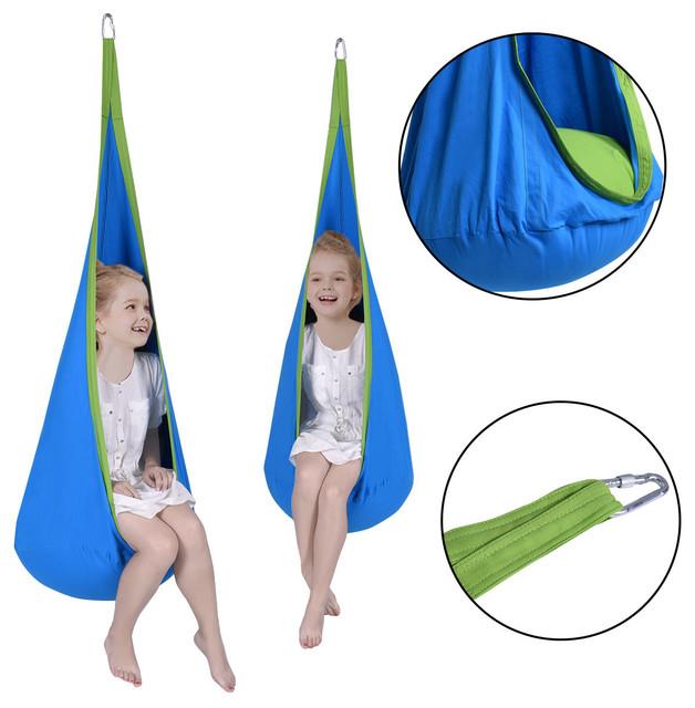 Remarkable Costway Child Pod Swing Chair Tent Nook Indoor Outdoor Hanging Hammock Kids Camellatalisay Diy Chair Ideas Camellatalisaycom