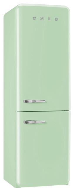 50's Retro Style Aesthetic Refrigerator, Pastel Green, Right Hand Hinge