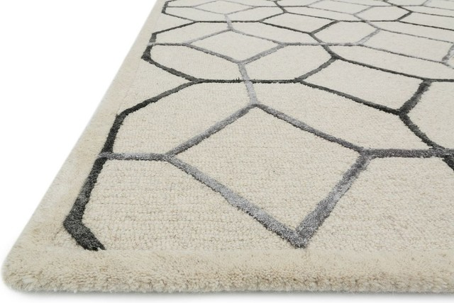 Flair Area Rug, Pewter, 9&x27;3x13&x27;.