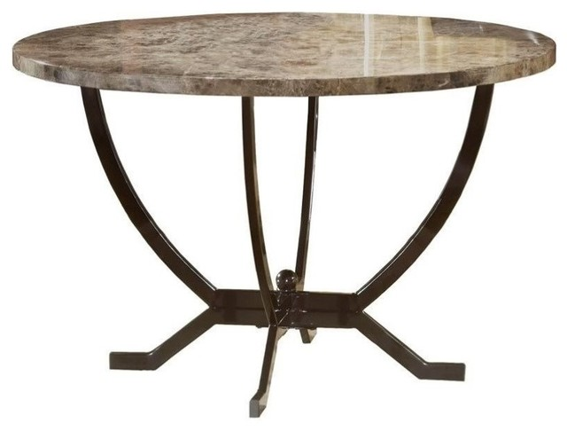 Hawthorne Collections Round Casual Dining Table, Matte Espresso.